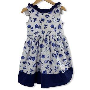 Maggie & Zoe blue floral twirl dress 3T